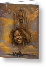 The Faces Of God Greeting Card by Gary Williams