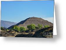 The Famous Pyramid Of The Sun Greeting Card