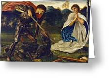 The Fight St George Kills The Dragon  Greeting Card