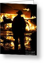 The Fireman Greeting Card by Benanne Stiens