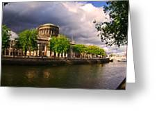 The Four Courts In Reconstruction 2 Greeting Card