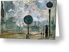 The Gare Saint-lazare Greeting Card