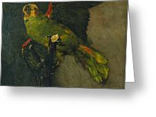 The Green Parrot Greeting Card