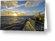 The Guided-missile Cruiser Uss Monterey Greeting Card