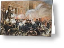 The Haymarket Riot, 1886 Greeting Card