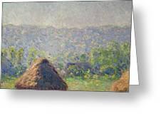 The Haystacks Greeting Card by Claude Monet