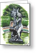 The Hidden Fountain Greeting Card