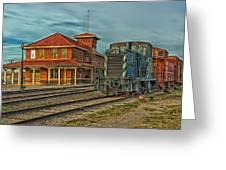 The Historic Santa Fe Railroad Station Greeting Card