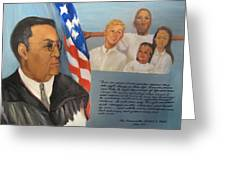 The Honorable Amos T. Hall Greeting Card