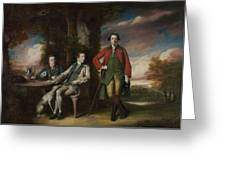 The Honorable Henry Fane With Inigo Jones And Charles Blair Greeting Card
