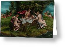 The Infancy Of Jupiter Greeting Card