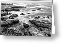 The Jagged Rocks And Cliffs Of Montana De Oro State Park Greeting Card