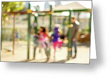 The Kids At The Playground During Day In The City Of Los Angeles Greeting Card