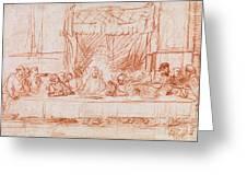 The Last Supper, After Leonardo Da Vinci Greeting Card