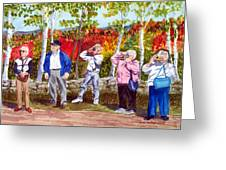 The Leaf Peepers Greeting Card