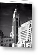 The Leveque Tower Of Columbus Ohio Greeting Card