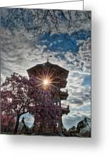 The Light Through The Pagoda Greeting Card