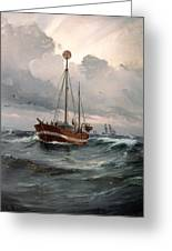The Lightship At Skagen Reef Greeting Card