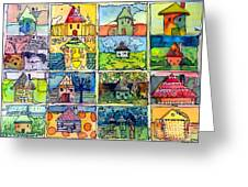 The Little Houses Greeting Card
