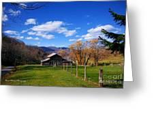 The Log Barn Greeting Card