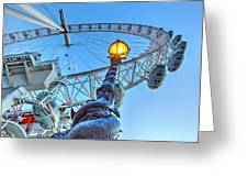 The London Eye And Street Lamp Greeting Card