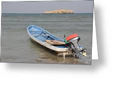 The Lonely Boat Greeting Card