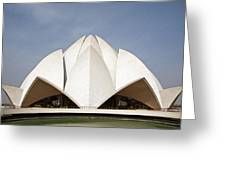 The Lotus Temple In New Delhi Greeting Card