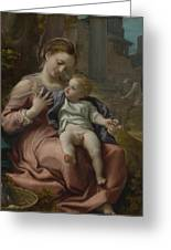 The Madonna Of The Basket Greeting Card