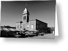 The Market Hall, Market Square, Chesterfield Town, Derbyshire Greeting Card