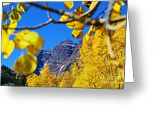 The Maroon Bells Greeting Card by Kate Avery
