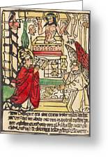 The Mass Of Saint Gregory Greeting Card