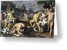 The Massacre Of The Innocents, 1590 Greeting Card