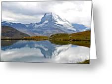 The Matterhorn And Lake Stellisee Greeting Card