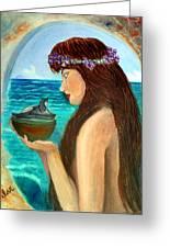 The Mermaid And The Pandora Box Greeting Card