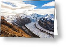 The Monte Rosa Massif In Switzerland Greeting Card