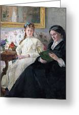 The Mother And Sister Of The Artist Greeting Card