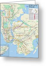 The New York City Pubway Map Greeting Card