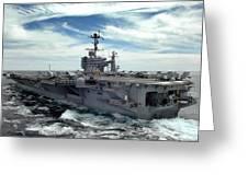 The Nimitz-class Aircraft Carrier Uss Greeting Card