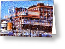 The Old C And H Pure Cane Sugar Plant In Crockett California . 5d16769 Greeting Card