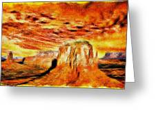 The Painted Desert Greeting Card