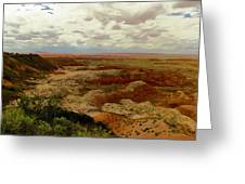 Viewpoint In The Painted Desert Greeting Card