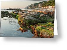 The Passetto Rocks At Sunrise, Ancona, Italy Greeting Card