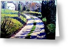 The Path To Huntley Greeting Card