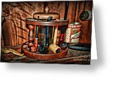 The Pipe Smoker Greeting Card