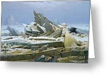 The Polar Sea Greeting Card by Caspar David Friedrich