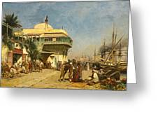 The Port Of Algiers Greeting Card