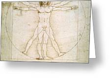 The Proportions Of The Human Figure Greeting Card