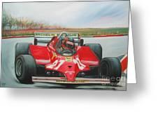 The Racing Car Greeting Card