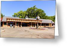 The Railroad Station In Scarsdale Greeting Card