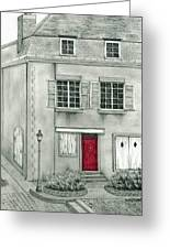 The Red French Door Greeting Card